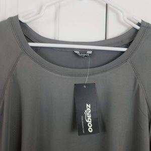 Zeagoo Tops - Lightweight Gray Long Sleeve Workout Tee